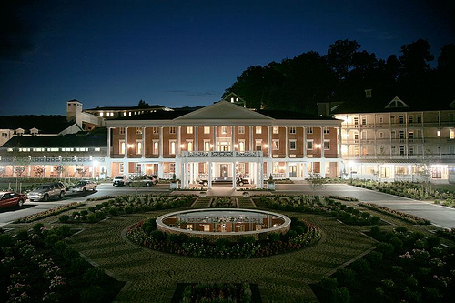 Bedford Springs Exterior Night