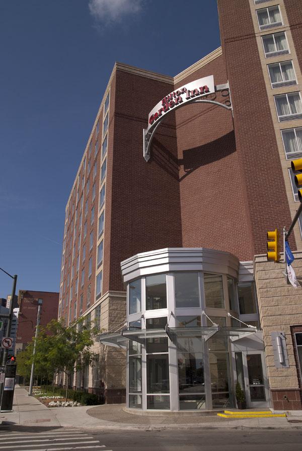 Detroit Hilton Garden Entry